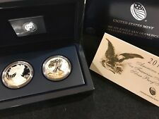 2012 S 2-pc American Eagle San Francisco Silver Coin Set Reverse Proof & Proof