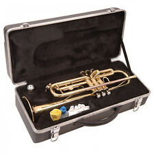More details for trumpet odyssey debut in bb - gold lacquer finish - hard case - beginner outfit
