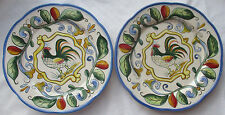 FITZ AND FLOYD 'RICAMO' MOTIF SALAD PLATES - SET OF 2 - AS IS