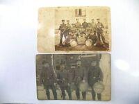 2 x Foto Ak - MARSCKAPELLE 1915
