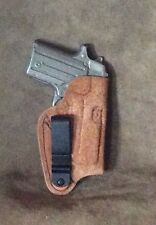 """Sig Sauer P238 IWB Leather Holster """"Rough Out"""" by ETW Holsters...Hickory, NC"""