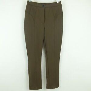 Kim Kardashian West ECKHAUS LATTA Brown Stretch No Pocket Riding Pants Size M