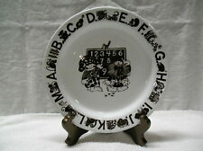 VINTAGE CHILD'S ALPHABET AND NUMBERS PLATE 8 INCHES EGERSUND NORWAY KORULEN