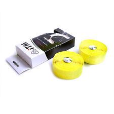 iTM Road Bike Handlebar Cork Embossed Tape With Logo - Yellow