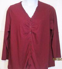 Laura Scott misses plus 20w 22w maroon knit top Shirt j184