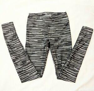 Women's Under Armour Compression Legging Size XS Gray Striped Heat Gear EUC