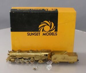 Sunset Models 2-8-2 HO BRASS USRA Heavy 2-8-2 Steam Loco & Tender w/DCC/Sound