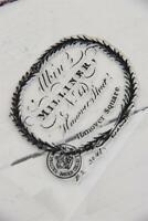 Jeanne d'Arc Living Vintage Schablone Milliner Stempel Text 12x11cm Stamp