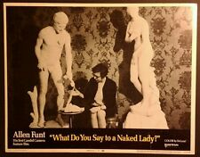 Super Rare 1970 Lobby Card - What Do You Say To A Naked Lady - 11x14, #2, Funt