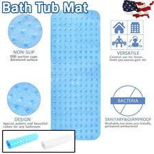 US Bathtub Mat Anti Slip Bathroom Floor Pad Extra Long Shower Cushion Blue/Clear