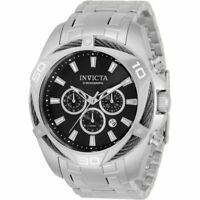 Invicta Men's Watch Bolt Chronograph Black and Silver Tone Dial Bracelet 34118