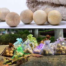 6Pcs Natural Cedar Wood Moth Balls Lavender Camphor Repellent Wardrobe