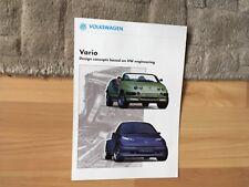 VOLKSWAGEN VARIO CONCEPT CARS  BROCHURE 1990