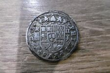 ancienne monnaie argent Espagne 2 Real Philippus V Felipe Filippe