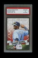 WANDER FRANCO 2018 LEAF PRIZED #21 1ST GRADED 10 ROOKIE CARD RC TAMPA BAY RAYS