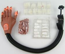 Nail Trainer Practice Hand Bundle Fake Nails Tips Bendy Arm With Clamp Job Lot