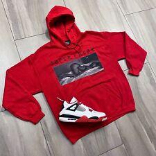 Hoodie to match Air Jordan Retro 4 Fire Red Sneakers. Super Freak Hoodie