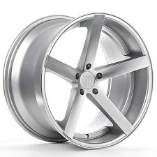 """22"""" ROHANA RC22 MACHINED SILVER CONCAVE WHEELS FOR AUDI A7 S7 A8 S8 22X9 ET.30"""
