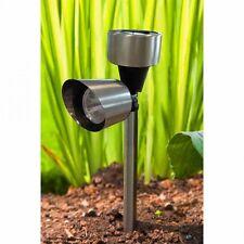 Garden Solar LED Spot Light, Stainless Steel, Outdoor Pathways Decoration