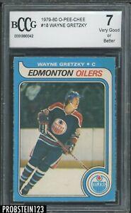 1979-80 O-Pee-Chee OPC Hockey #18 Wayne Gretzky RC Rookie HOF BCCG 7