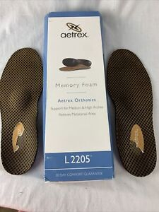 Aetrex Men L2205 Lynco Foot Orthotics Support for MEDIUM & HIGH  ARCHES Size 9