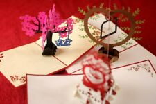 3D Pop Up Love Cards Pack of 3 For Valentine's Day