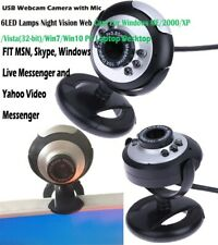 6LED USB Webcam Camera with Microphone Night Vision Web Cam For Win10 PC Laptop