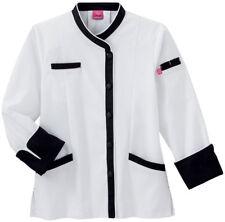 Five Star Women's Long Sleeve Breathable Mesh Back Executive Chef Coat. 18038
