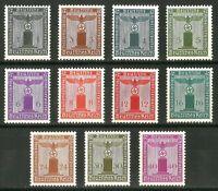 DR Nazi 3rd Reich Rare WW2 Stamp Hitler Swastika Eagle NSDAP Oficial Service Set