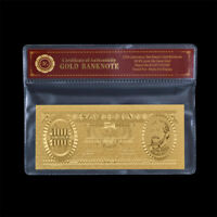WR 1960 Hungary 100 Forint 24K Gold Foil Banknote Collection Souvenirs + COA PAC