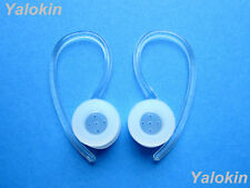 2 Clear Earloops & Eartips for Motorola H19 H19txt HX550 H525 H520 Elite Flip