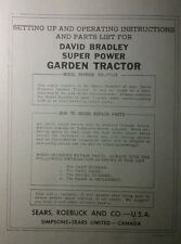 David Bradley Sears 917575119 Garden Tractor Amp Plow Owners Amp Parts 2 Manuals