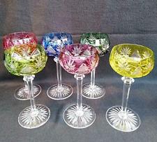 """Val Saint Lambert - lot de 6 verres modèle """"Berncastel"""" - comme neuf - signés"""