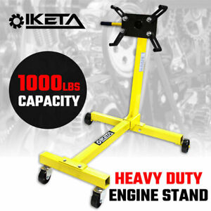 IKETA Engine Stand 450kg 1000lb Industrial Workshop Cars Auto Motor Crane Hoist