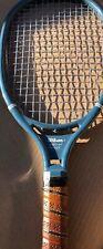 Wilson Vintage Speed Flex Racquet! Blue Leather/Brown Grip—-