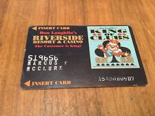 Vintage Don Laughlins Riverside Casino Raised Letters Slot Card *Laughlin Nv