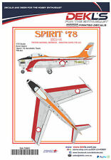 Decals Avon Sabre-TNI-AU Aerobatic Team 'Spirit 78' 1/72 Scale