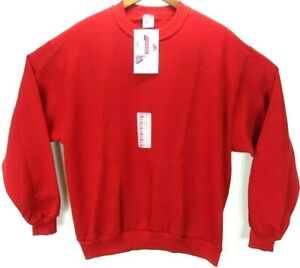 Vintage JERZEES Red Crewneck Sweatshirt Made In USA Mens Large 90's w/tags