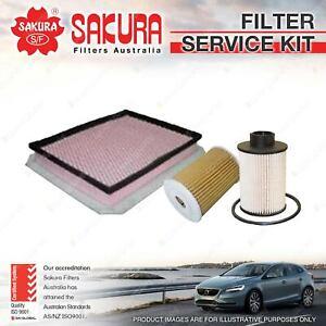 Sakura Oil Air Fuel Filter Service Kit for Holden Astra AH 1.9L CDTi 06/06-03/10