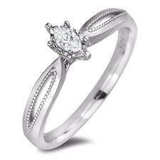 0.18ct Canadian diamond Solitaire Engagement Ring with cert in 10k white gold