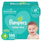 Pampers Baby-Dry Extra Protection Diapers, Size 4, 186 Count