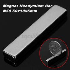 125 Pcs 50x10x5mm N50 Super Strong Long Block Bar Magnet Rare Earth Neodymium