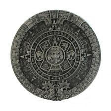 Calendario Maya de Plata Plateado Hebilla de cinturón en caja de presentación Cinturón Snap Fit
