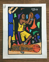 1996-97 Topps #138 Kobe Bryant Rookie Card Canvas Painting 8 x 10 (young artist)