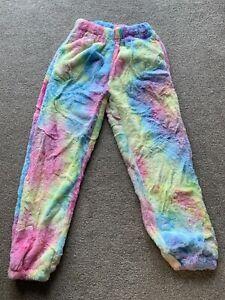 Multi-coloured Fleece Pyjama Bottoms With Pockets Size : S