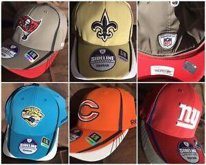j Reebok NFL Sideline Hat Team Fitted Primary Color Cap Mens