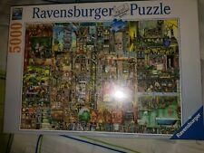 RAVENSBURGER JIGSAW PUZZLE BIZARRE TOWN COLIN THOMPSON 5000 PCS  #17430