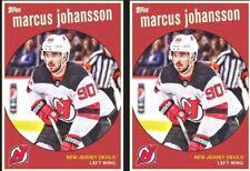 2x Topps SKATE DIGITAL Card 2018 THROWBACK MARCUS JOHANSSON NJ Devils