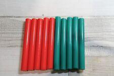 10 PZ Bastoncini di colla a caldo in colori di Natale Rosso/Verde - 12 mm x 100 mm