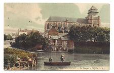 pont l'èvêque , la touques et l'église